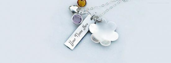 Lovely Silver Necklace Facebook Cover Photo With Name