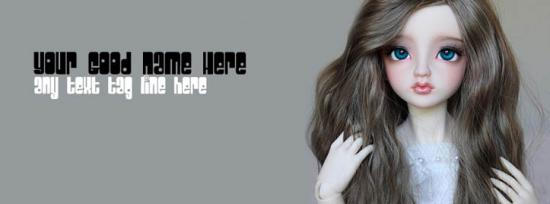 Lovely Sweet Doll Facebook Cover Photo With Name