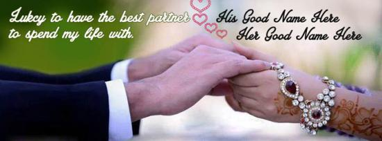 Lucky Lovely Partner Facebook Cover Photo With Name