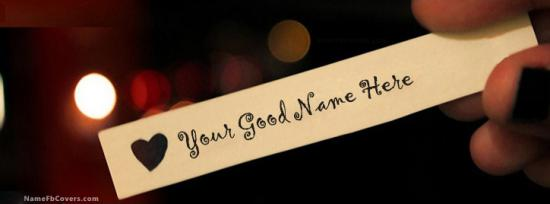 Made for You Facebook Cover Photo With Name