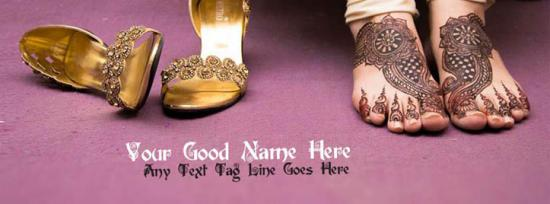 Mehndi is my jewlery Facebook Cover Photo With Name