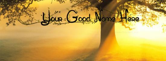 Morning Sunlight Facebook Cover Photo With Name