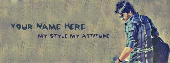 My Style My Attitude Facebook Cover Photo With Name