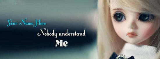 Nobody understand Me Facebook Cover Photo With Name