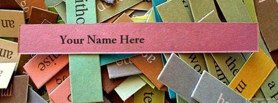 Paper Pieces Facebook Cover Photo With Name