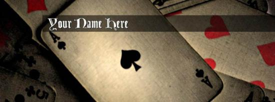 Play Cards Facebook Cover Photo With Name