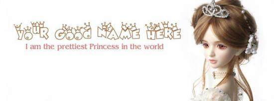 Prettiest Princess Facebook Cover Photo With Name