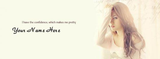 Pretty Girl Facebook Cover Photo With Name