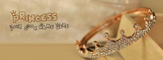Princess Crown Facebook Cover Photo With Name