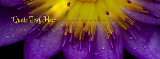 Purple Flower Facebook Cover Photo With Name