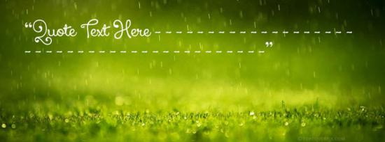 Raining on Grass Facebook Cover Photo With Name