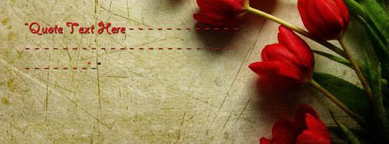 Red Tulip Flower Facebook Cover Photo With Name