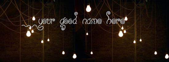 Room Bulb Lights Facebook Cover Photo With Name