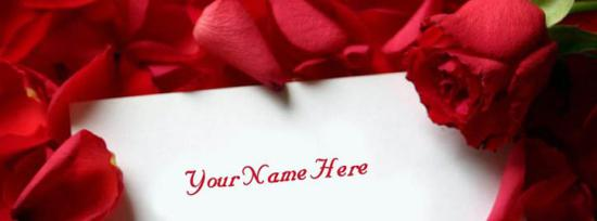 Rose Note Facebook Cover Photo With Name
