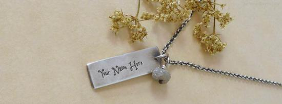Rough Diamond Beads Necklace Facebook Cover Photo With Name