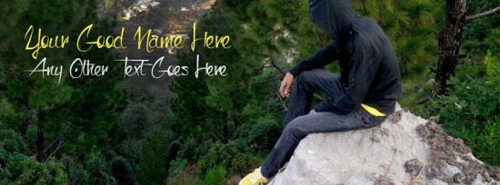 Sad and Alone Boy Facebook Cover Photo With Name