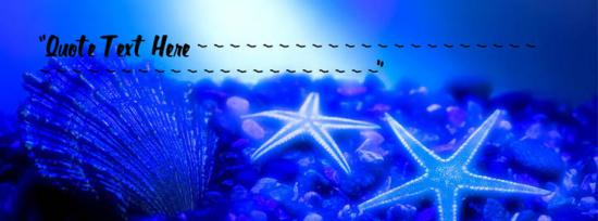 Seabed Nature Facebook Cover Photo With Name