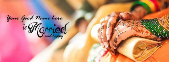 She is Married Facebook Cover Photo With Name