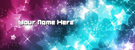 Shining Stars Facebook Cover Photo With Name