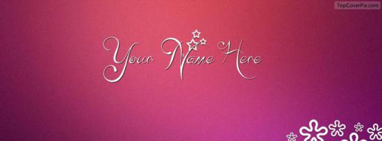 Simple and Decent Facebook Cover Photo With Name