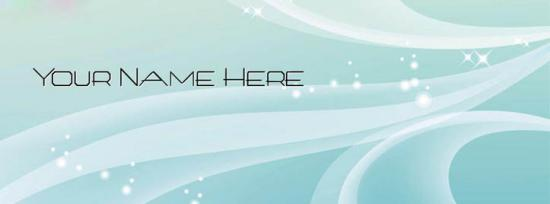 Simple Vector Facebook Cover Photo With Name