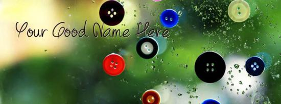 Simply Buttons Facebook Cover Photo With Name