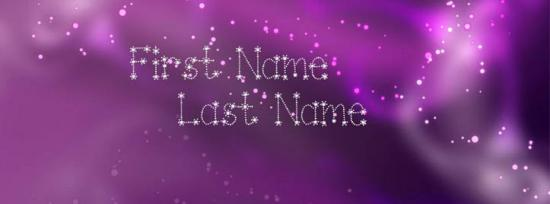 Sparkle and Shine Facebook Cover Photo With Name