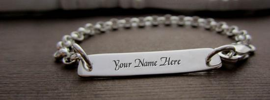 Sterling Personalized Bracelet Facebook Cover Photo With Name