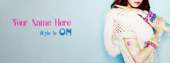 Style is ON Facebook Cover Photo With Name
