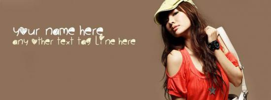 Stylish Fashion Girl Facebook Cover Photo With Name
