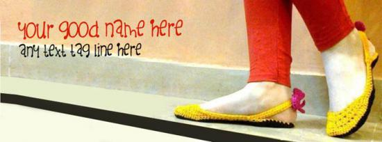 Stylish Girl Shoe Facebook Cover Photo With Name