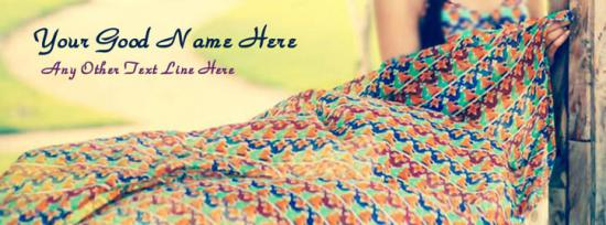 Summer Girl Facebook Cover Photo With Name