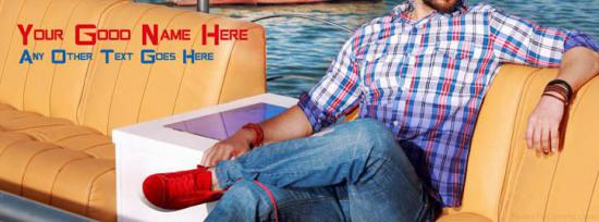 Summer Guy Fashion Facebook Cover Photo With Name
