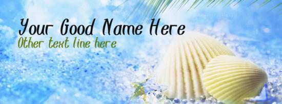 Summer Season Facebook Cover Photo With Name