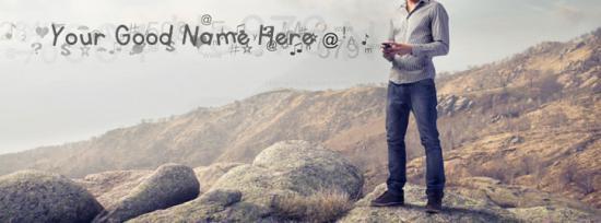 Tech Boy Facebook Cover Photo With Name