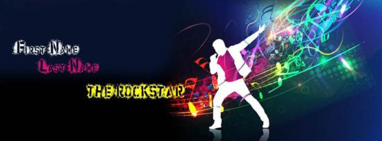 The Rock Star Facebook Cover Photo With Name