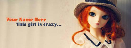 This Girl is Crazy Facebook Cover Photo With Name