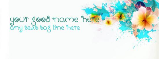 Trend floral Facebook Cover Photo With Name