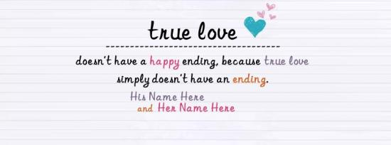 True Love Facebook Cover Photo With Name