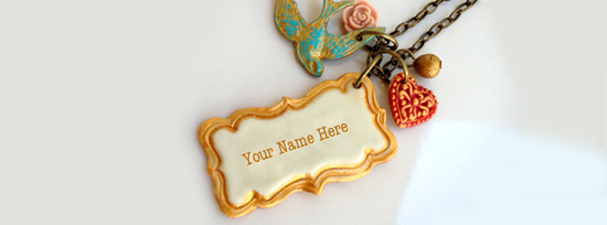 Vintage Necklace Facebook Cover Photo With Name