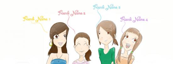 We Crazy Best Friends Facebook Cover Photo With Name