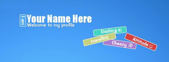 Welcome to my Profile Facebook Cover Photo With Name