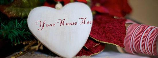 Wodden Heart Facebook Cover Photo With Name