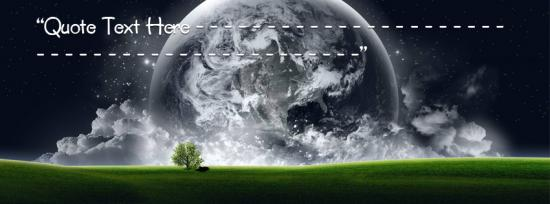 World Creation Facebook Cover Photo With Name