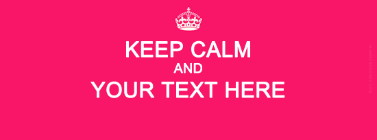 Keep Calm Facebook Cover Photo With Name