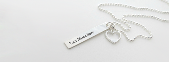 Light Sliver Necklace Facebook Cover Photo With Name