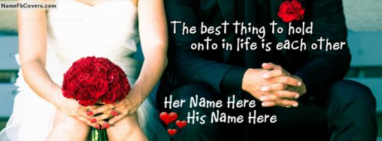 Love Me Forever Facebook Cover Photo With Name