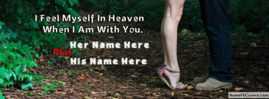 Lovely Romantic Couple Quote Facebook Cover Photo With Name