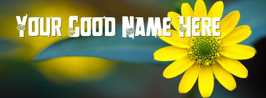 Macro Yellow Flower Facebook Cover Photo With Name