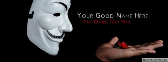 Mask Boy Share Love Facebook Cover Photo With Name